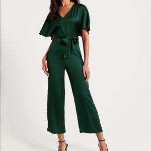 Green Satin jumpsuit